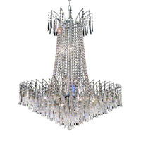 Elegant Lighting Victoria 16 Light Dining Chandelier in Chrome with Spectra Swarovski Clear Crystal 8032D29C/SA alternative photo thumbnail