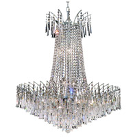Elegant Lighting Victoria 16 Light Dining Chandelier in Chrome with Elegant Cut Clear Crystal 8032D29C/EC