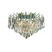 Elegant Lighting Victoria 6 Light Flush Mount in Chrome with Spectra Swarovski Clear Crystal 8032F16C/SA alternative photo thumbnail