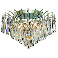Elegant Lighting Victoria 6 Light Flush Mount in Chrome with Elegant Cut Clear Crystal 8032F16C/EC