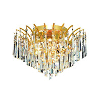 Elegant Lighting 8032F16G/SA Victoria 6 Light 16 inch Gold Flush Mount Ceiling Light in Spectra Swarovski alternative photo thumbnail