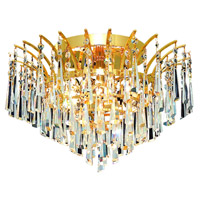 Elegant Lighting Victoria 6 Light Flush Mount in Gold with Swarovski Strass Clear Crystal 8032F16G/SS