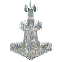 Elegant Lighting Victoria 18 Light Foyer in Chrome with Elegant Cut Clear Crystal 8032G32C/EC