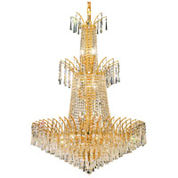 Elegant Lighting Victoria 18 Light Foyer in Gold with Swarovski Strass Clear Crystal 8032G32G/SS