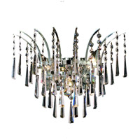Elegant Lighting Victoria 3 Light Wall Sconce in Chrome with Swarovski Strass Clear Crystal 8032W16C/SS