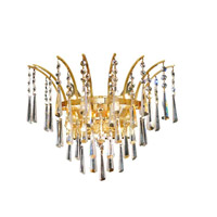 Elegant Lighting 8032W16G/EC Victoria 3 Light 16 inch Gold Wall Sconce Wall Light in Elegant Cut alternative photo thumbnail