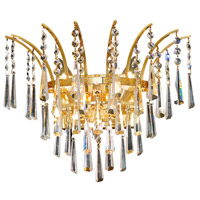 Elegant Lighting Victoria 3 Light Wall Sconce in Gold with Royal Cut Clear Crystal 8032W16G/RC photo thumbnail