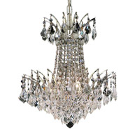 Elegant Lighting 8033D16C/RC Victoria 4 Light 16 inch Chrome Dining Chandelier Ceiling Light in Royal Cut alternative photo thumbnail