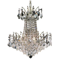 Elegant Lighting Victoria 4 Light Dining Chandelier in Chrome with Elegant Cut Clear Crystal 8033D16C/EC