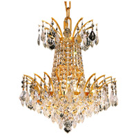 Elegant Lighting Victoria 4 Light Dining Chandelier in Gold with Elegant Cut Clear Crystal 8033D16G/EC