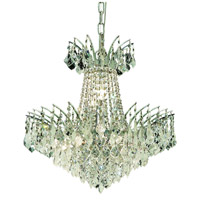 Elegant Lighting Victoria 8 Light Dining Chandelier in Chrome with Elegant Cut Clear Crystal 8033D19C/EC