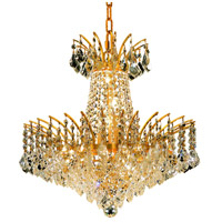 Elegant Lighting Victoria 8 Light Dining Chandelier in Gold with Elegant Cut Clear Crystal 8033D19G/EC