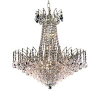 Elegant Lighting 8033D24C/EC Victoria 11 Light 24 inch Chrome Dining Chandelier Ceiling Light in Elegant Cut alternative photo thumbnail