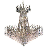 Elegant Lighting Victoria 11 Light Dining Chandelier in Chrome with Elegant Cut Clear Crystal 8033D24C/EC