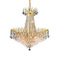 Elegant Lighting Victoria 11 Light Dining Chandelier in Gold with Royal Cut Clear Crystal 8033D24G/RC alternative photo thumbnail