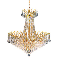 Elegant Lighting Victoria 11 Light Dining Chandelier in Gold with Swarovski Strass Clear Crystal 8033D24G/SS