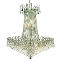 Elegant Lighting Victoria 16 Light Dining Chandelier in Chrome with Swarovski Strass Clear Crystal 8033D29C/SS alternative photo thumbnail