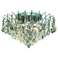 Elegant Lighting Victoria 6 Light Flush Mount in Chrome with Swarovski Strass Clear Crystal 8033F16C/SS