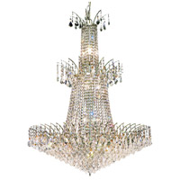 Elegant Lighting Victoria 18 Light Foyer in Chrome with Elegant Cut Clear Crystal 8033G32C/EC