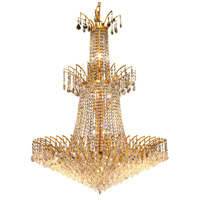 Elegant Lighting Victoria 18 Light Foyer in Gold with Swarovski Strass Clear Crystal 8033G32G/SS