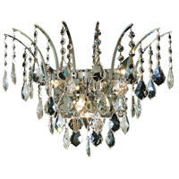 Elegant Lighting Victoria 3 Light Wall Sconce in Chrome with Elegant Cut Clear Crystal 8033W16C/EC