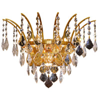 Elegant Lighting Victoria 3 Light Wall Sconce in Gold with Swarovski Strass Clear Crystal 8033W16G/SS