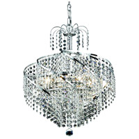Elegant Lighting Spiral 8 Light Dining Chandelier in Chrome with Royal Cut Clear Crystal 8052D18C/RC photo thumbnail