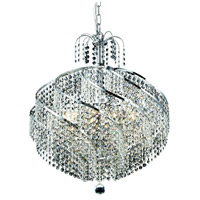 Elegant Lighting Spiral 10 Light Dining Chandelier in Chrome with Elegant Cut Clear Crystal 8052D22C/EC