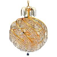 Elegant Lighting Spiral 10 Light Dining Chandelier in Gold with Swarovski Strass Clear Crystal 8052D22G/SS