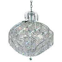 Elegant Lighting Spiral 15 Light Dining Chandelier in Chrome with Elegant Cut Clear Crystal 8052D26C/EC