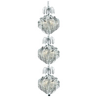 Elegant Lighting Spiral 9 Light Foyer in Chrome with Swarovski Strass Clear Crystal 8052G14C/SS