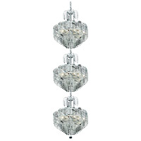 Spiral 24 Light 18 inch Chrome Foyer Ceiling Light in Elegant Cut