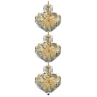 Elegant Lighting Spiral 24 Light Foyer in Gold with Elegant Cut Clear Crystal 8052G18G/EC