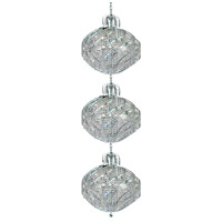 Spiral 45 Light 26 inch Chrome Foyer Ceiling Light in Elegant Cut