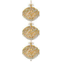Spiral 45 Light 26 inch Gold Foyer Ceiling Light in Swarovski Strass