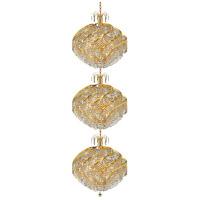Elegant Lighting 8052G26G/RC Spiral 45 Light 26 inch Gold Foyer Ceiling Light in Royal Cut