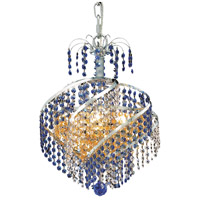 Spiral 3 Light 14 inch Chrome Pendant Ceiling Light in Swarovski Strass