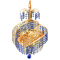 Elegant Lighting Spiral 3 Light Pendant in Gold with Royal Cut Crystal 8053D14G/RC