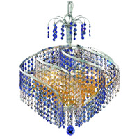 Elegant Lighting Spiral 8 Light Dining Chandelier in Chrome with Royal Cut Crystal 8053D18C/RC