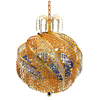 Elegant Lighting Spiral 10 Light Dining Chandelier in Gold with Swarovski Strass Crystal 8053D22G/SS