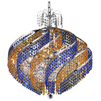 Spiral 15 Light 26 inch Chrome Dining Chandelier Ceiling Light in Swarovski Strass