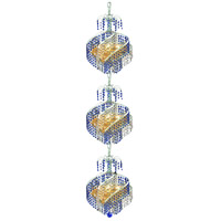 Spiral 9 Light 14 inch Chrome Foyer Ceiling Light in Swarovski Strass