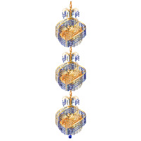 Elegant Lighting Spiral 9 Light Foyer in Gold with Swarovski Strass Crystal 8053G14G/SS