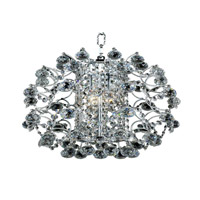 Elegant Lighting St. Ives 3 Light Chandelier in Chrome with Elegant Cut Clear Crystals 8064D14C/EC