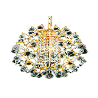 Elegant Lighting St. Ives 3 Light Chandelier in Gold with Spectra Swarovski Clear Crystals 8064D14G/SA