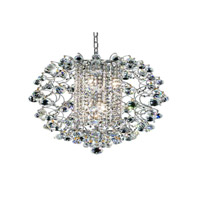 St. Ives 6 Light 18 inch Chrome Chandelier Ceiling Light in Royal Cut