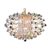 St. Ives 6 Light 18 inch Gold Chandelier Ceiling Light in Elegant Cut