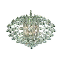 Elegant Lighting St. Ives 12 Light Chandelier in Chrome with Elegant Cut Clear Crystals 8064D24C/EC