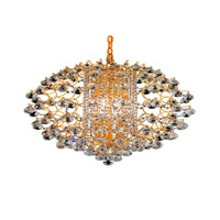 Elegant Lighting St. Ives 12 Light Chandelier in Gold with Royal Cut Clear Crystals 8064D24G/RC