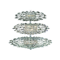 Elegant Lighting St. Ives 21 Light Chandelier in Chrome with Elegant Cut Clear Crystals 8064G24C/EC